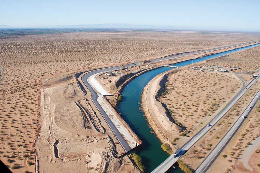 All American Canal : Gomaco world the all american canal slipforming