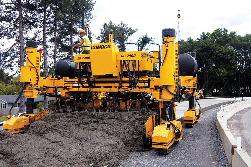 gomaco manufacturer of concrete slipform paving equipment gp 2400